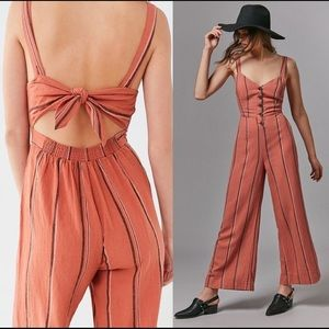 NWT UO Ashley Button-down Tie-back Jumpsuit